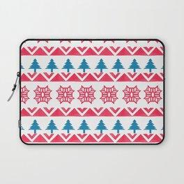 Colorful pink blue watercolor scandinavian pattern Laptop Sleeve
