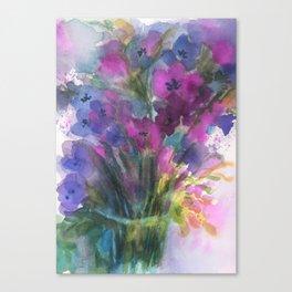 Red Violet Blue Violet Canvas Print