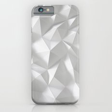 White polygonal landscape iPhone 6s Slim Case