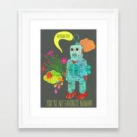 robot Framed Art Prints featuring Robot by Elisandra