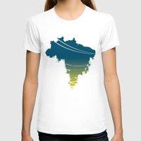 brazil T-shirts featuring Brazil by jenkydesign