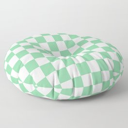 Checker Mini Green Floor Pillow