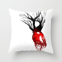 The Love Is Dead Throw Pillow