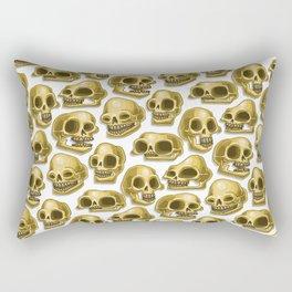 gold skulls Rectangular Pillow