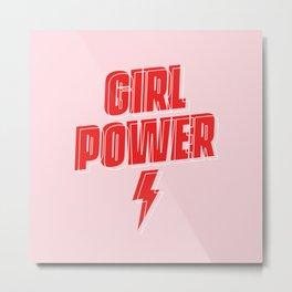 GRL PWR - Girl Power 9 (in Red) Metal Print