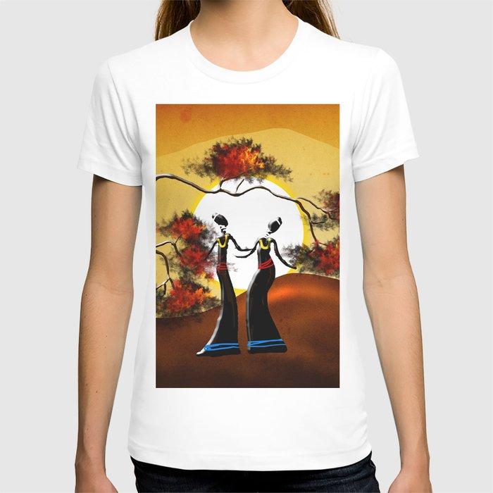 Africa retro vintage style design illustration T-shirt