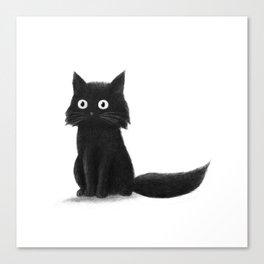 Sitting Cat (mono) Canvas Print