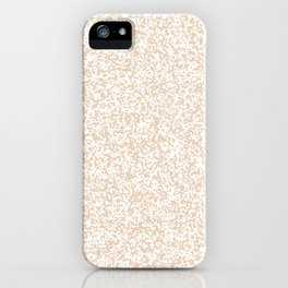 Tiny Spots - White and Pastel Brown iPhone Case