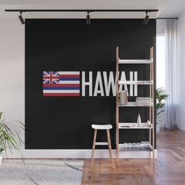 Hawaii: Hawaiin Flag & Hawaii Wall Mural