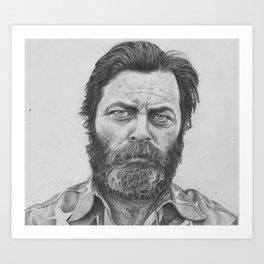 Nick Offerman Art Print