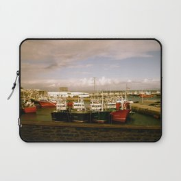 Boats Bobbing in the Blue of the Bay Laptop Sleeve