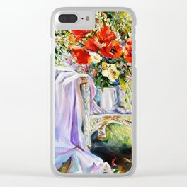 Bouquet of wildflowers. Clear iPhone Case