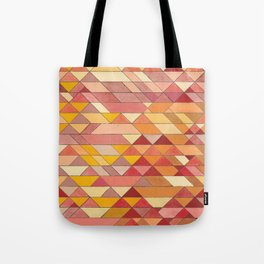 Triangle Pattern no.4 Warm Colors Red and Yellow Tote Bag