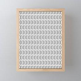 Smiley Small B&W Framed Mini Art Print