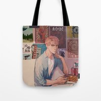 movie posters Tote Bags featuring posters by KEL H