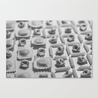 pasta Canvas Prints featuring Pasta by Isabel Martinez Isabel