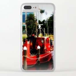 Little red tug Boat Clear iPhone Case