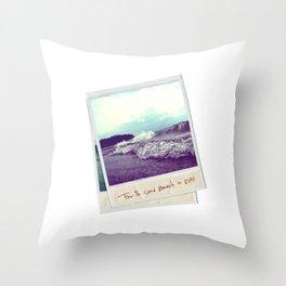 Fourth Sand Polaroid  Throw Pillow