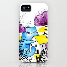 Blue giant cat  iPhone Case