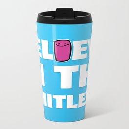 Believe in the Limitless. Metal Travel Mug