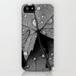 raindrops iPhone Case