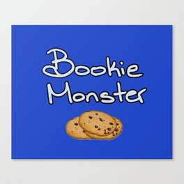 Bookie Monster Canvas Print