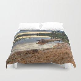 Nicks Lake Sunset Duvet Cover