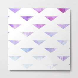 Watercolour Triangles Violet Metal Print