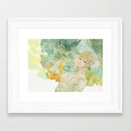 world without you Framed Art Print