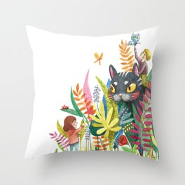 Little Painters Throw Pillow