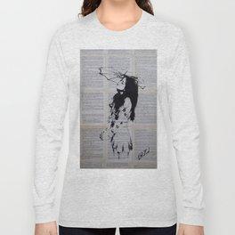 Girl with sunshade Long Sleeve T-shirt