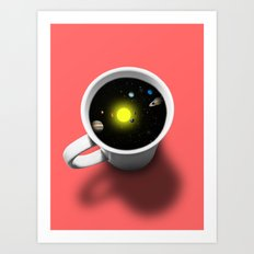 Cup of universe Art Print