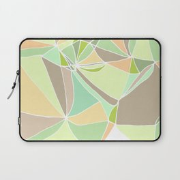 Pastel mosaic  Abstract artwork  Mint peach beige Laptop Sleeve