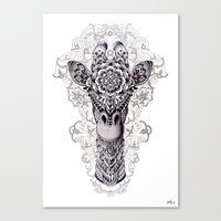 bioworkz Canvas Prints featuring Giraffe by BIOWORKZ