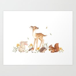Fawn & Friends Art Print