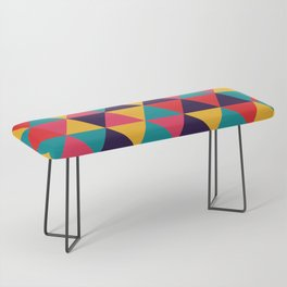 Colorful Triangles (Bright Colors) Bench