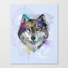 Sasha's Wolf Blue Canvas Print