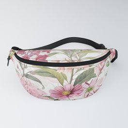 Vintage & Shabby Chic - Botanical Pink Springflowers Meadow Fanny Pack