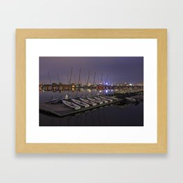Charles River Boats Clear Water Reflection Framed Art Print