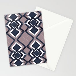 Art Deco Rebel - Retro Geometric Shapes Stationery Cards