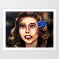 dorothy Art Prints featuring Dorothy by Amanda Lee