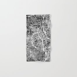 Nashville Tennessee City Map Hand & Bath Towel