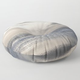 Silver Scene ~ Ocean Ripple Effect Floor Pillow