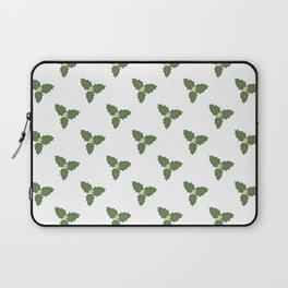Misletoe - green and beige Laptop Sleeve