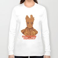 groot Long Sleeve T-shirts featuring Groot  by bookotter