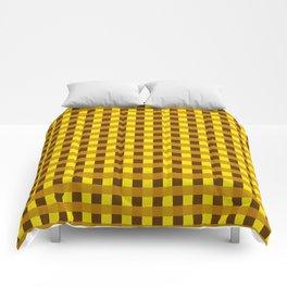 Retro Yellow Squares Comforters