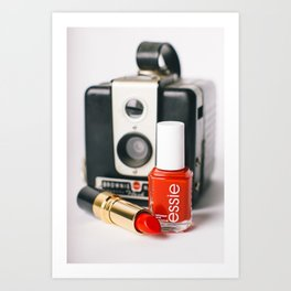 Class Comes in Red Art Print