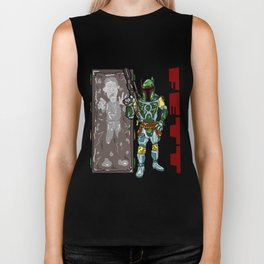 Totally FETT-UP!  The galaxy's coolest bounty hunter is HERE! Boba Fett and Han Solo from Star Wars Biker Tank