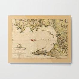 Map Of Gibraltar 1783 Metal Print