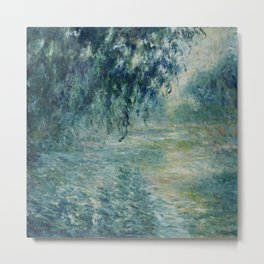 "Claude Monet ""Morning on the Seine"" Metal Print"